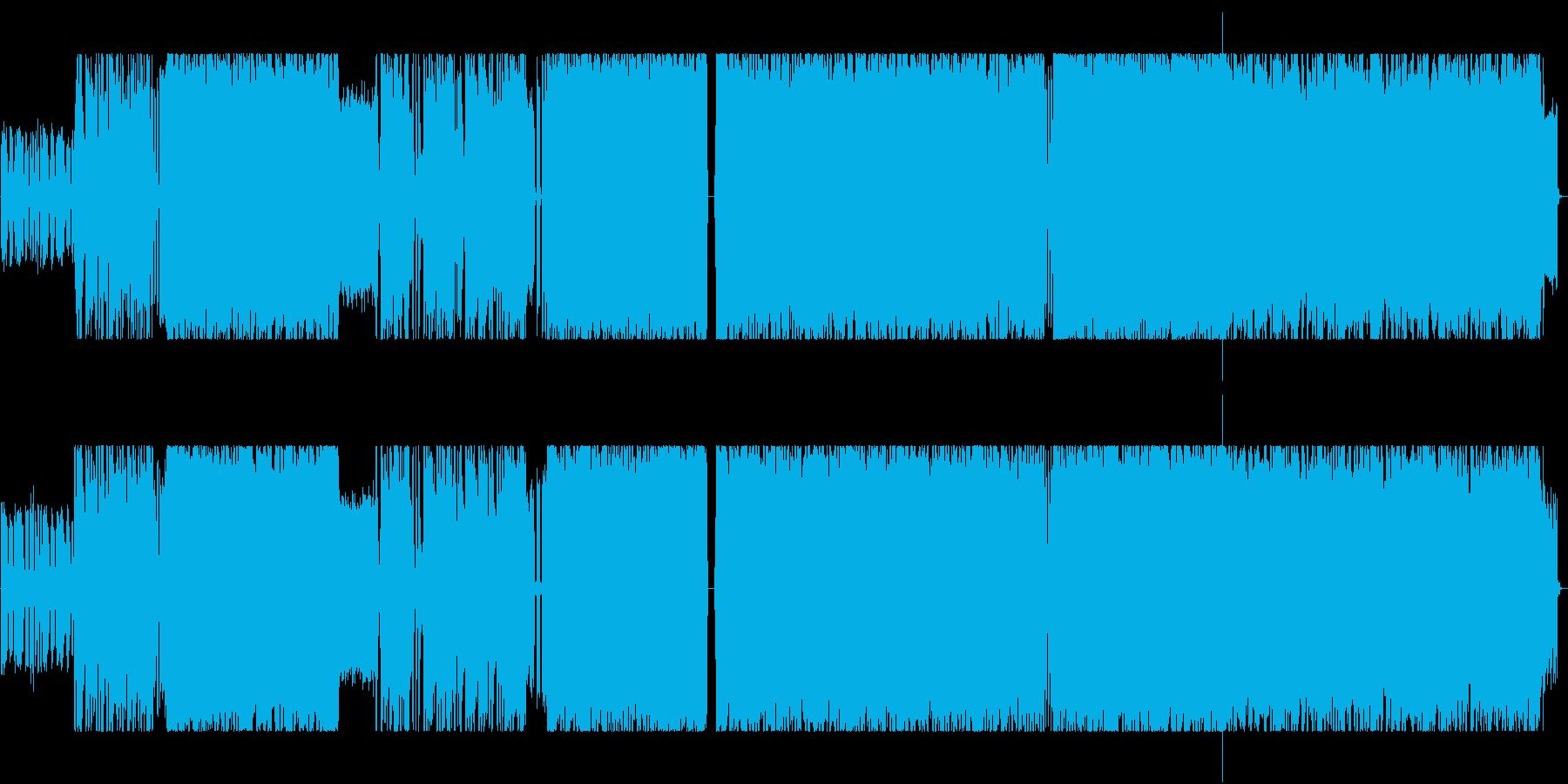 疾走感溢れるロックバンドサウンドの再生済みの波形