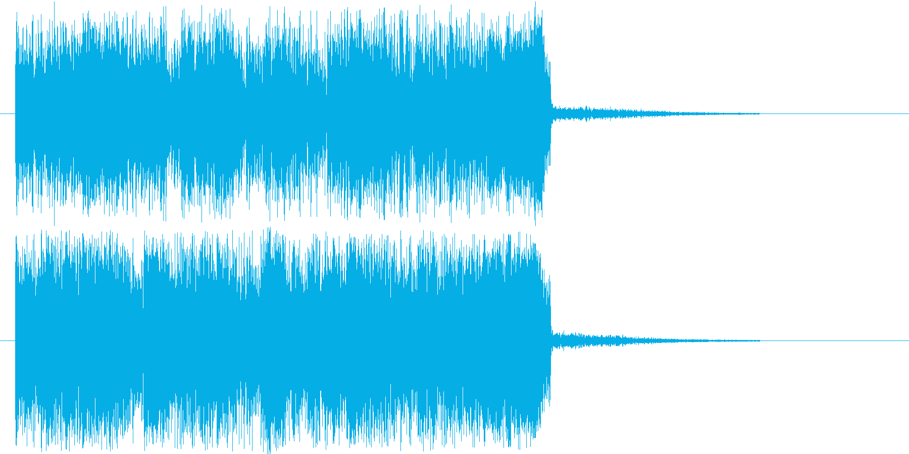 激しく勢いのあるハードロックの再生済みの波形
