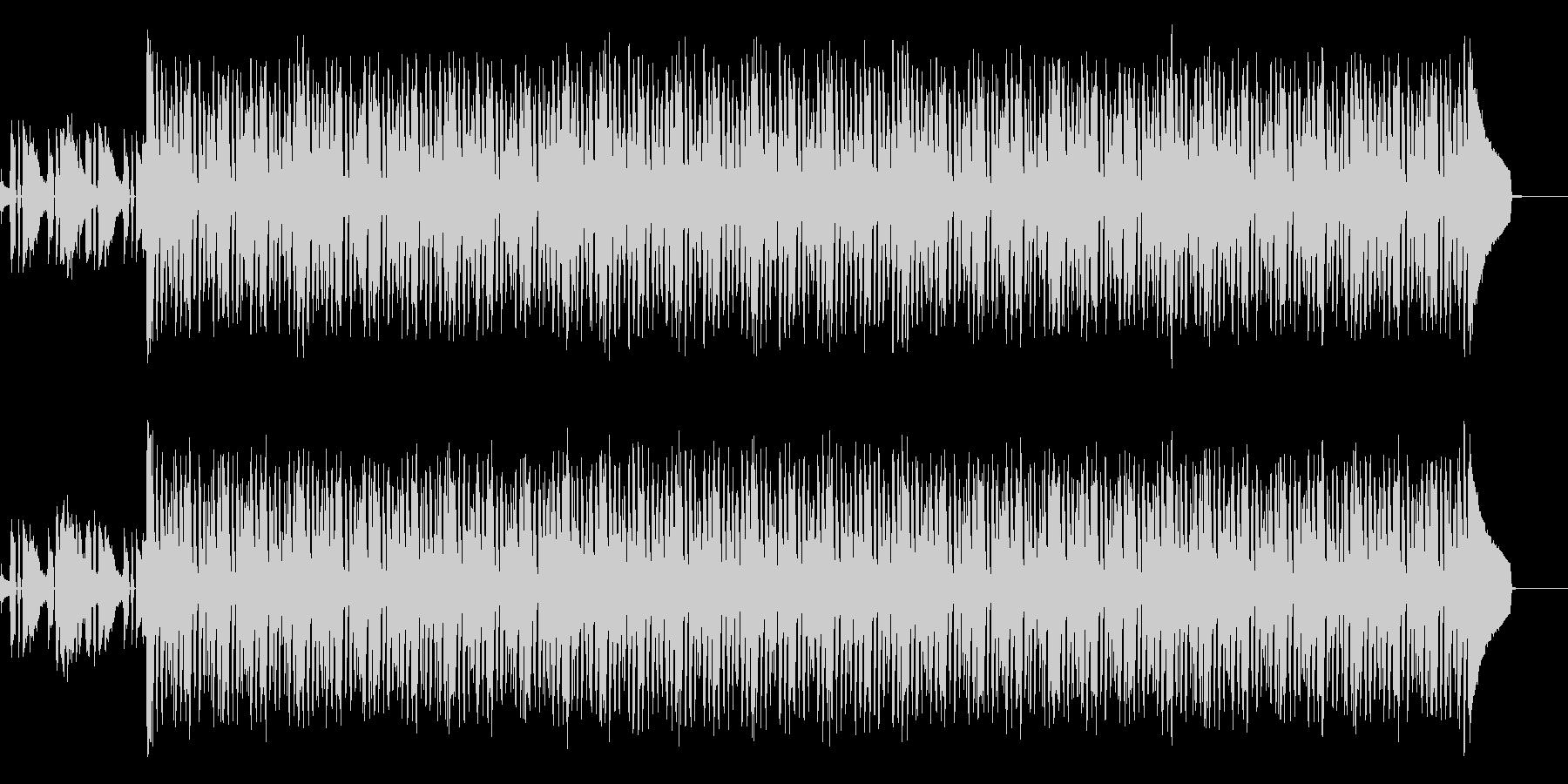 シンプルなバンドアンサンブルのバッキングの未再生の波形