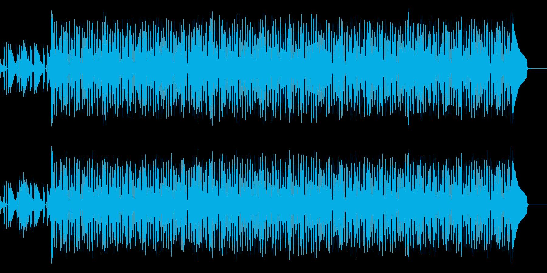 シンプルなバンドアンサンブルのバッキングの再生済みの波形