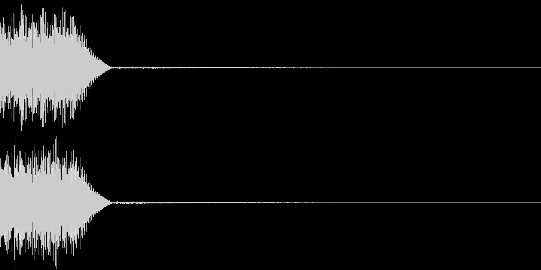 ボタン クリック コイン クレジット 9の未再生の波形