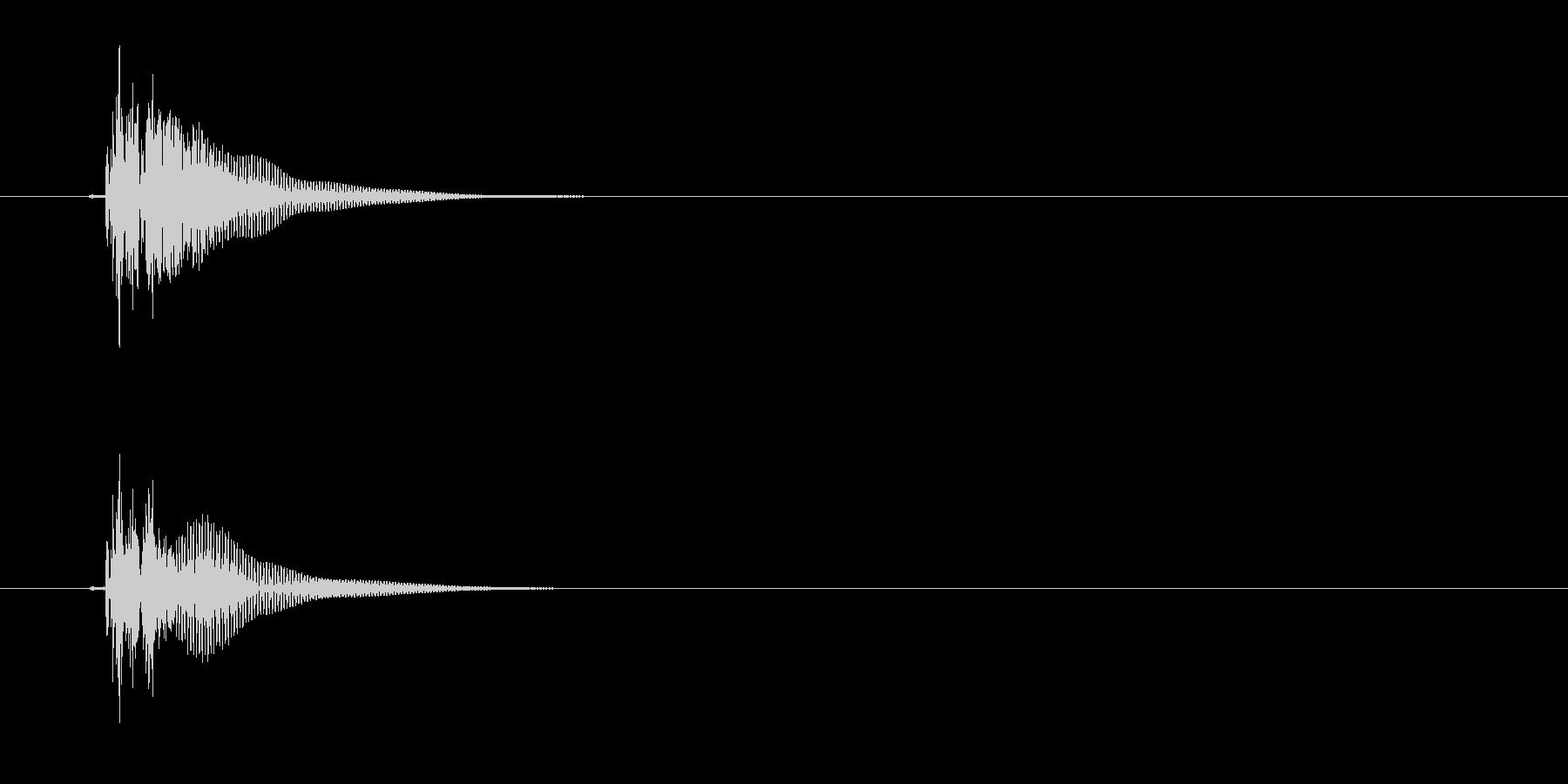 能や歌舞伎での小鼓(つづみ)の単発音の未再生の波形