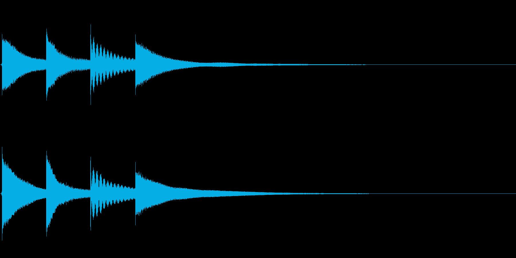 【チャイム アナウンス01-up2】の再生済みの波形