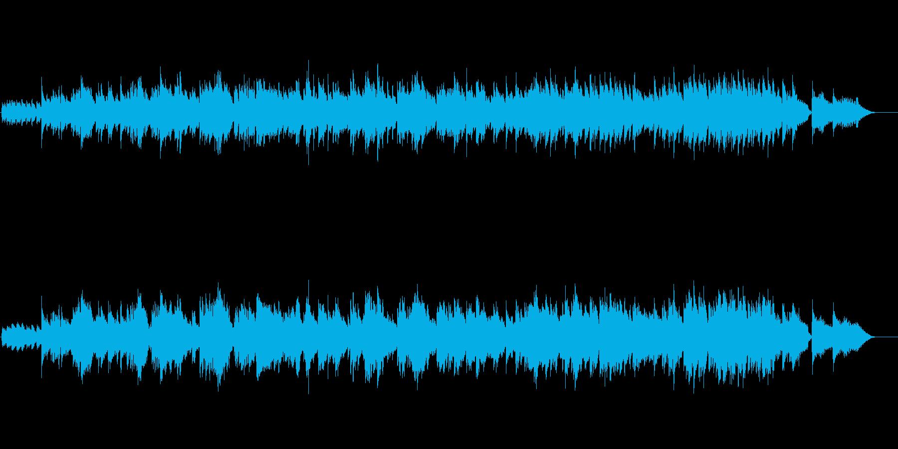 どっぷりとムード音楽してるバラードの再生済みの波形