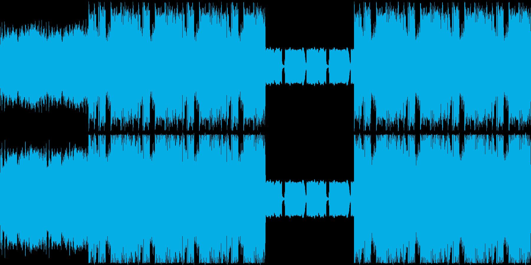 【ポップなギターロック】の再生済みの波形