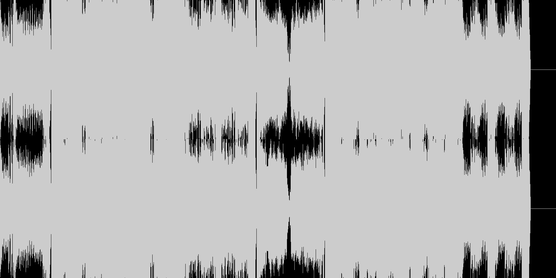 EDM DUBSTEP テクノの未再生の波形