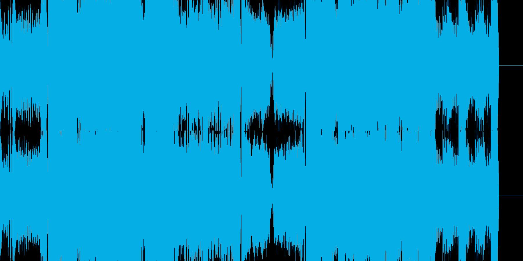 EDM DUBSTEP テクノの再生済みの波形