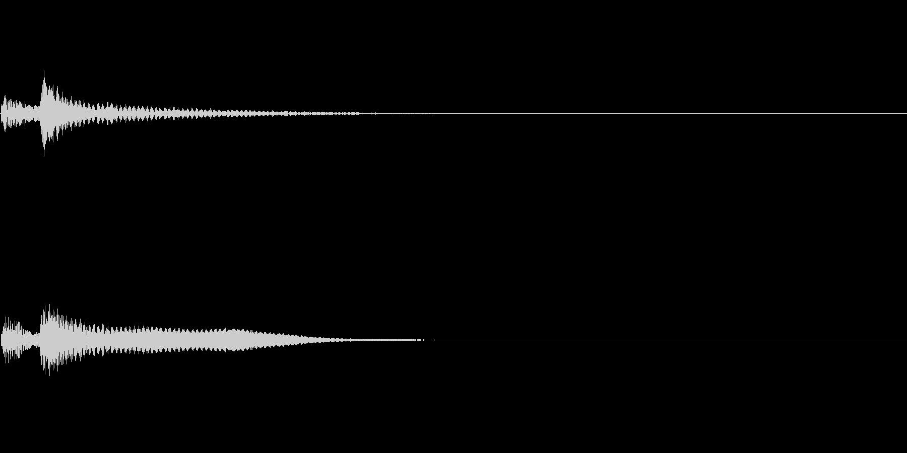 決定 シンセ02の未再生の波形