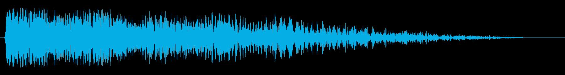 ヒューン(ビームの発射音)の再生済みの波形