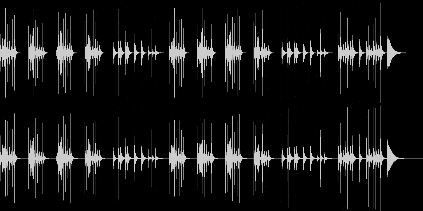 考えてる時に流れるほのぼのBGMの未再生の波形