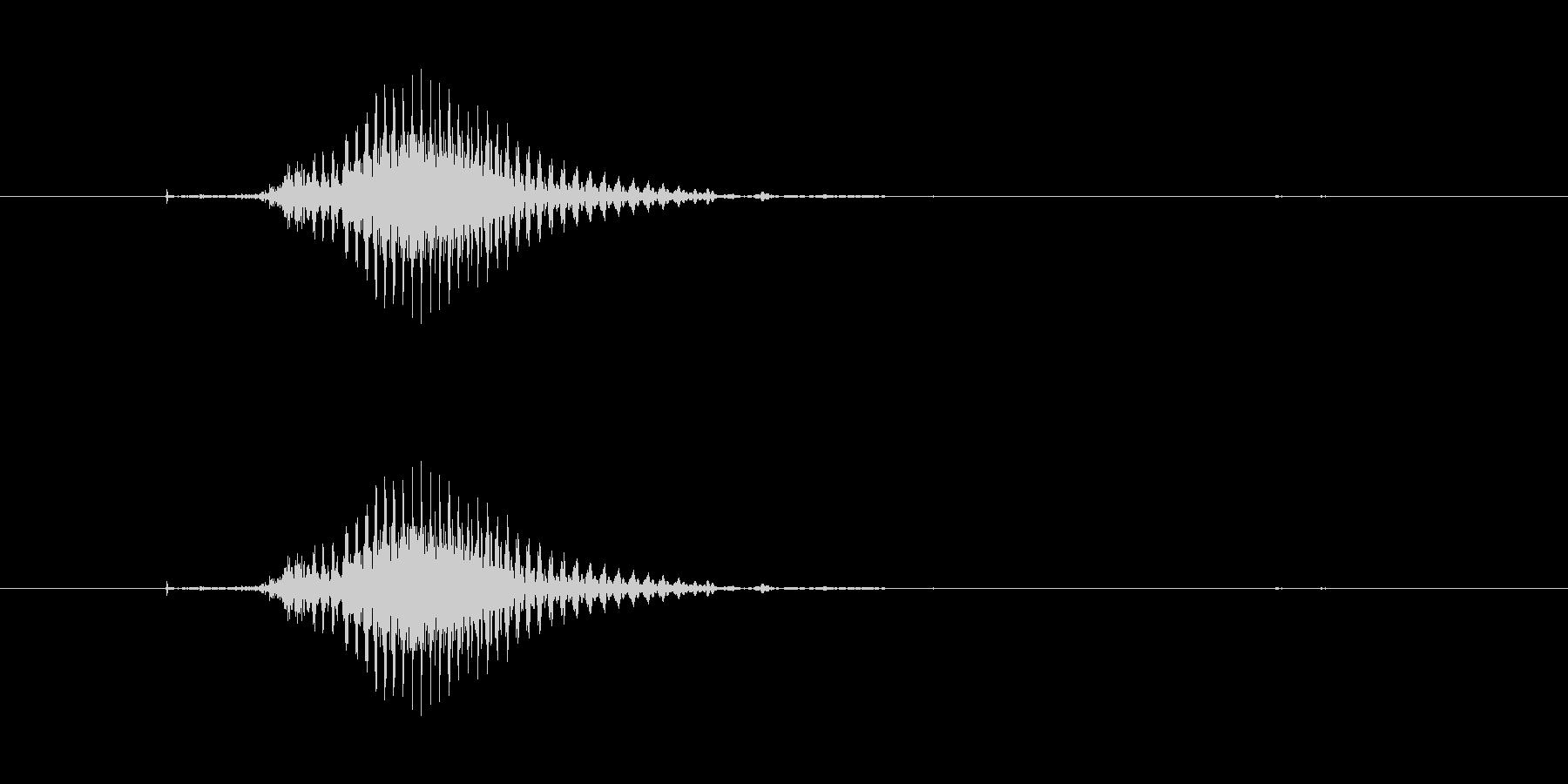 中(チュン)[麻雀]の未再生の波形