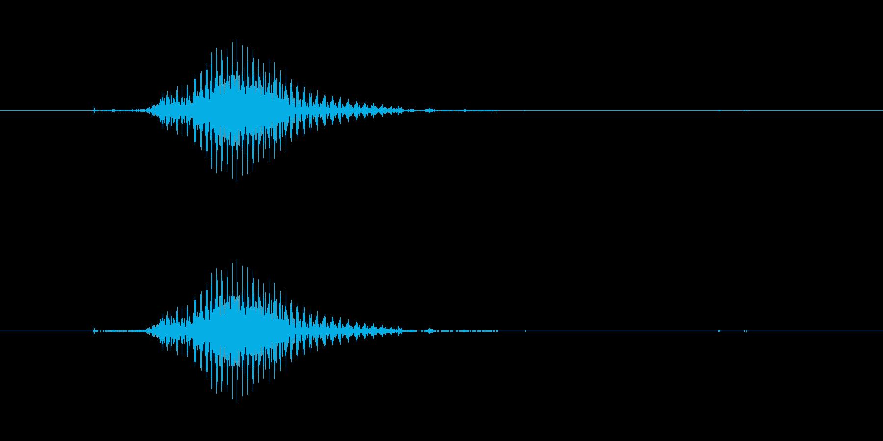 中(チュン)[麻雀]の再生済みの波形