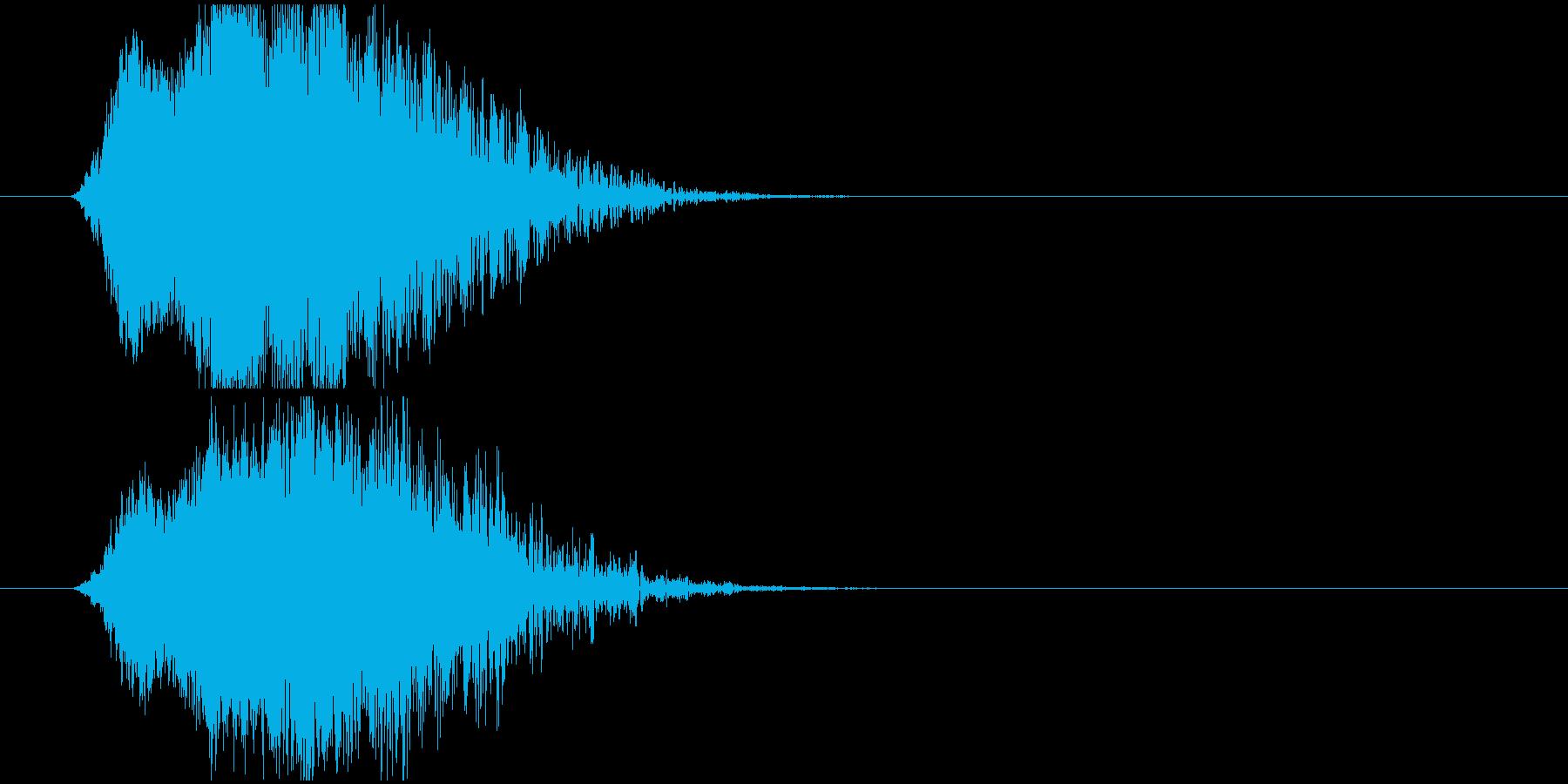 瞬間移動または消失の再生済みの波形