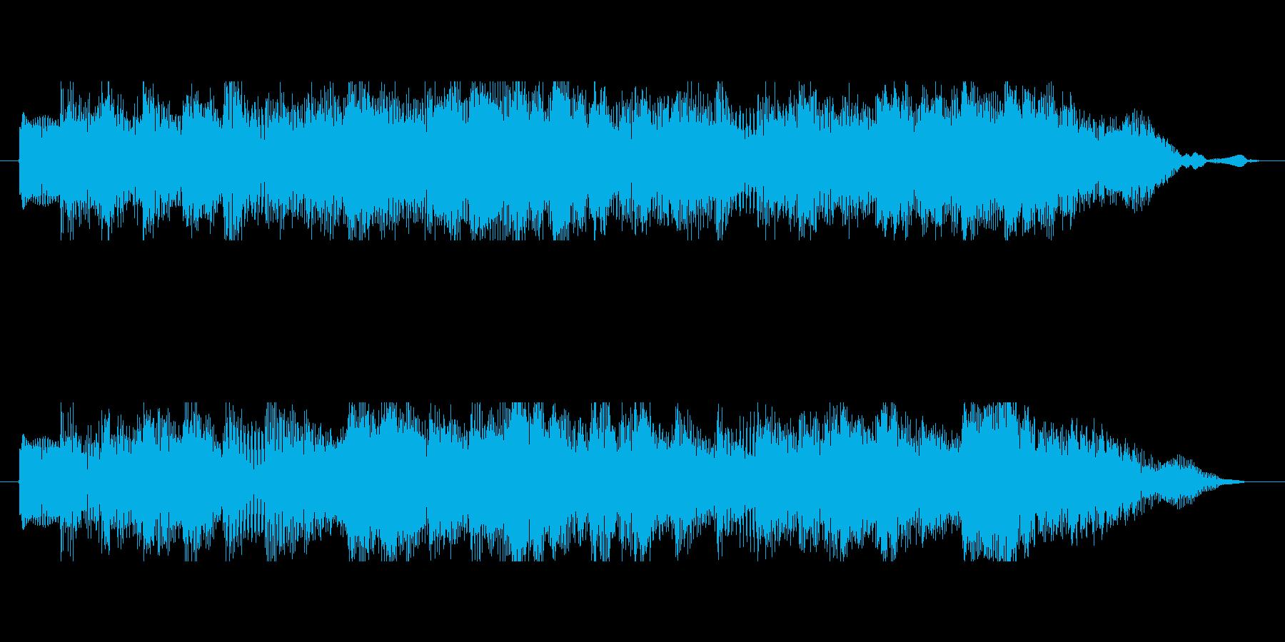 荘厳でおどろおどろしいフレーズ音素材ですの再生済みの波形