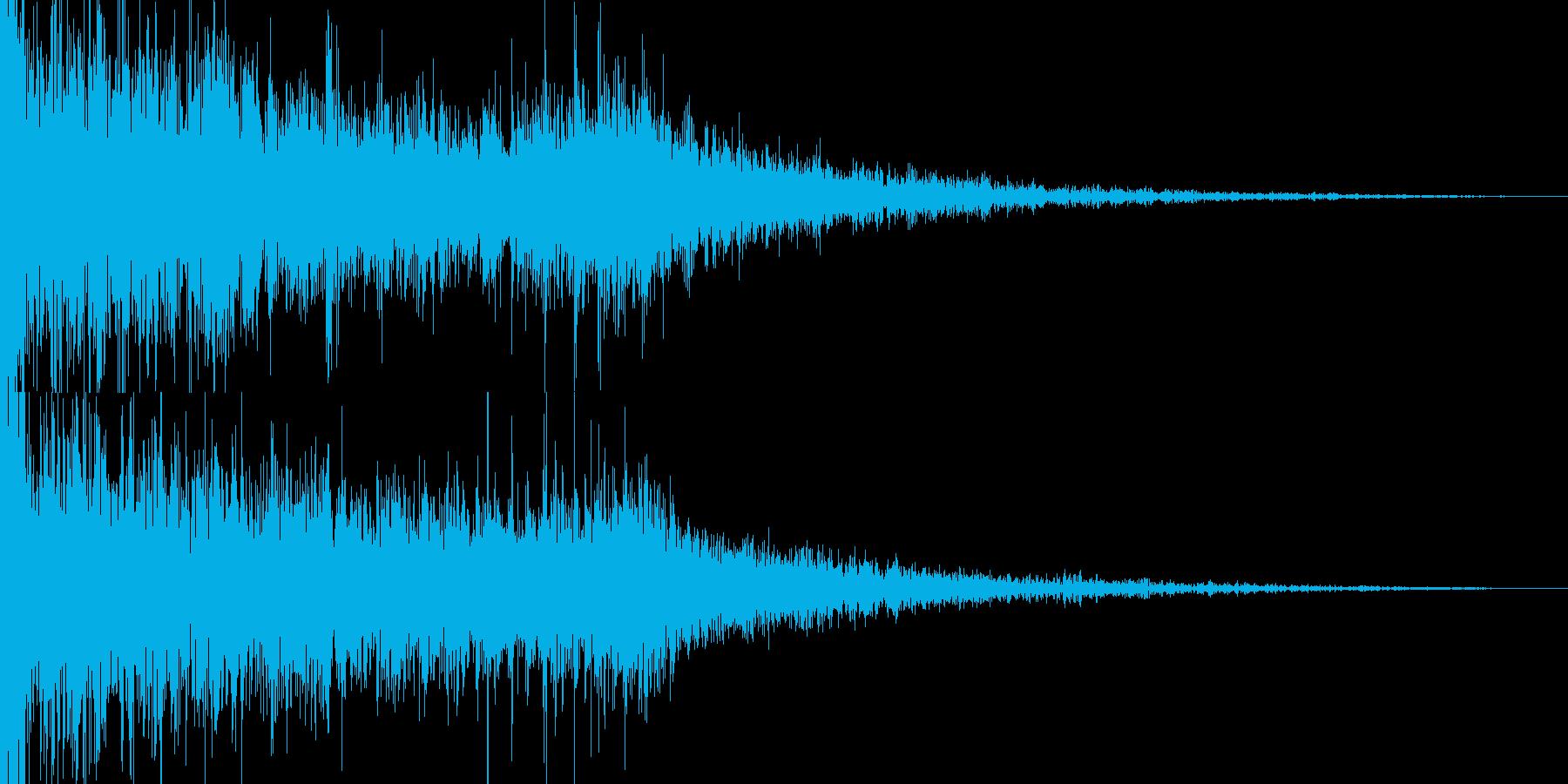 水系ホラー映画トレラーの再生済みの波形