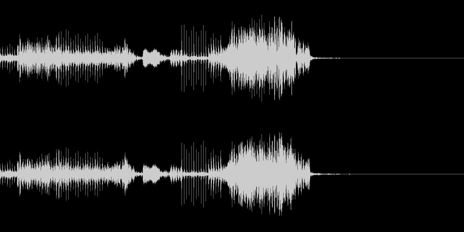 壊れたマシーンの起動音の未再生の波形