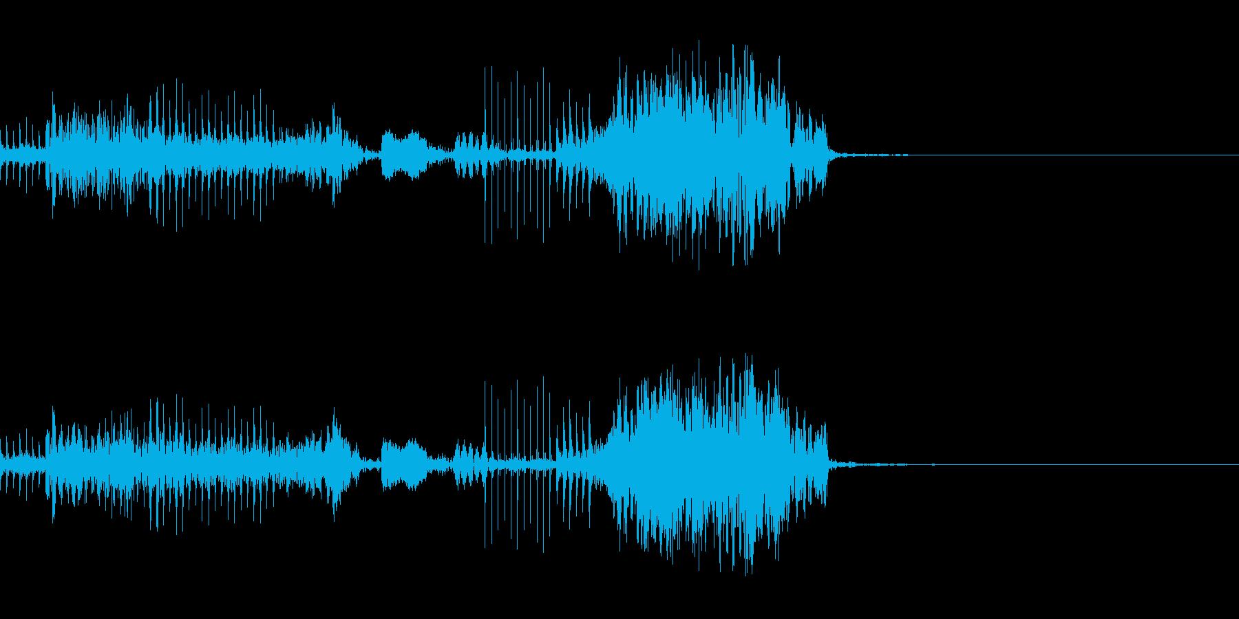 壊れたマシーンの起動音の再生済みの波形