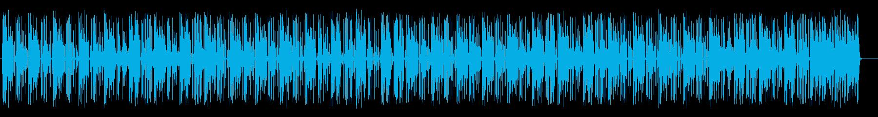 軽快でリズミカルなポップスの再生済みの波形