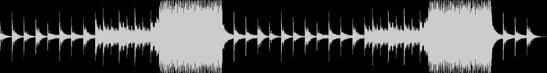 終末感漂うホラー、ダーク系のBGMの未再生の波形
