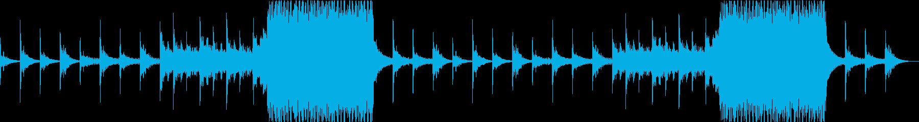 終末感漂うホラー、ダーク系のBGMの再生済みの波形
