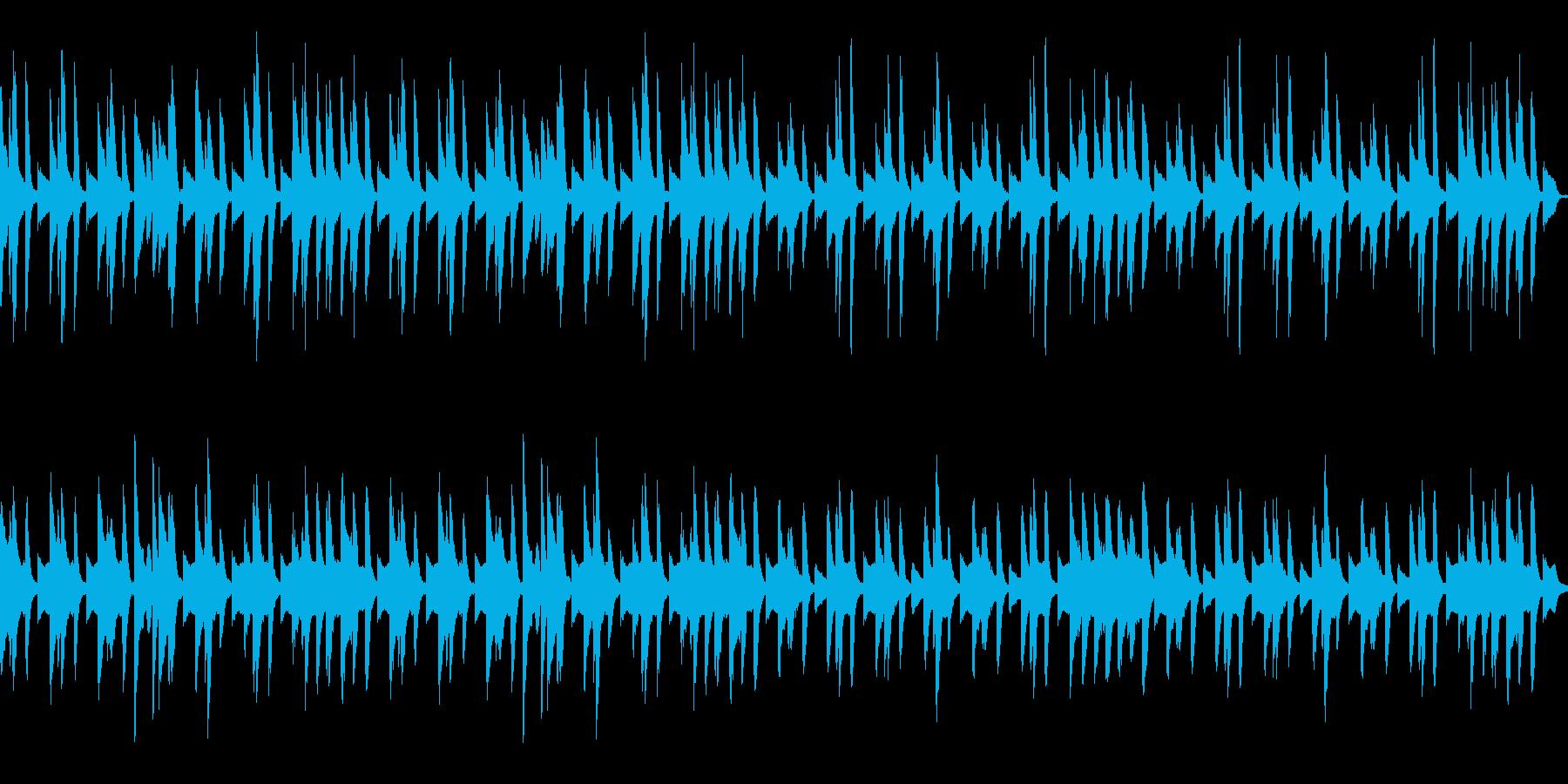 日常系 ほのぼのしたピアノの曲の再生済みの波形
