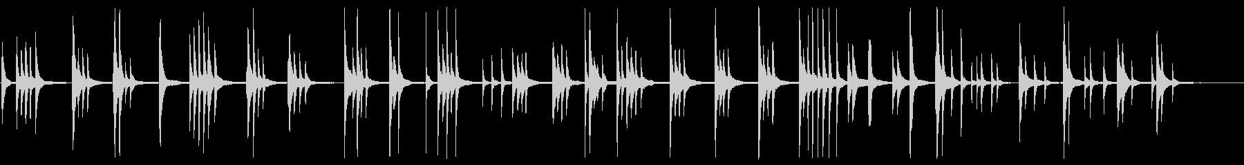 繊細で儚くシンプルなピアノソロの未再生の波形