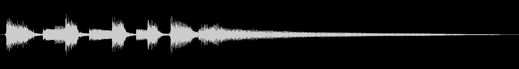 音色の柔らかなナイロンギターのジングルの未再生の波形