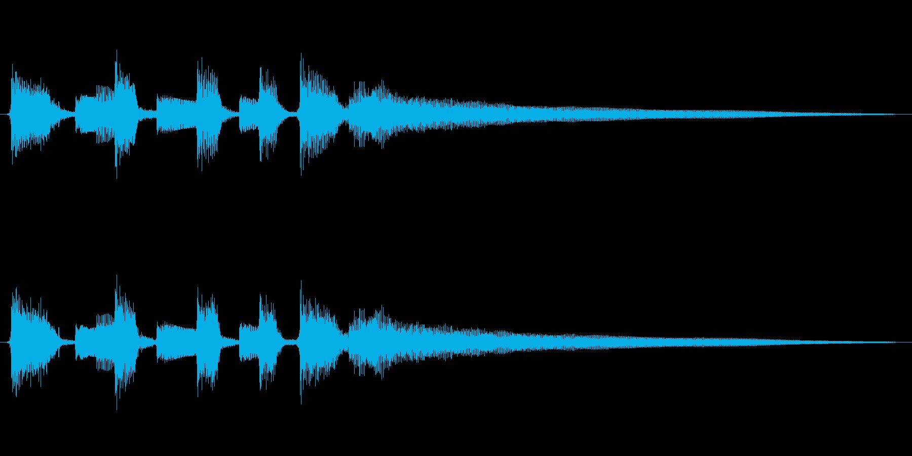 音色の柔らかなナイロンギターのジングルの再生済みの波形