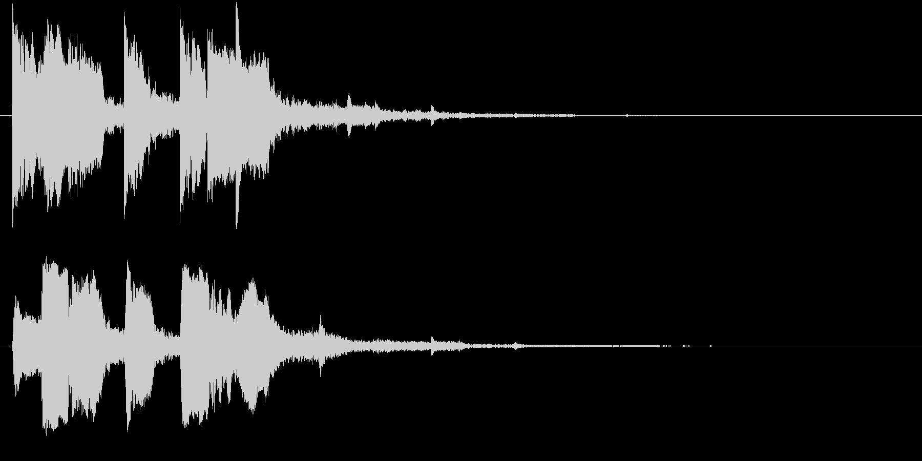 上昇系の効果音です。『タララッ タッタ…の未再生の波形