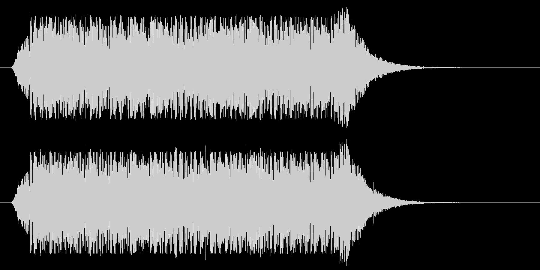サイバー風ミステリアスジングル(ロング)の未再生の波形
