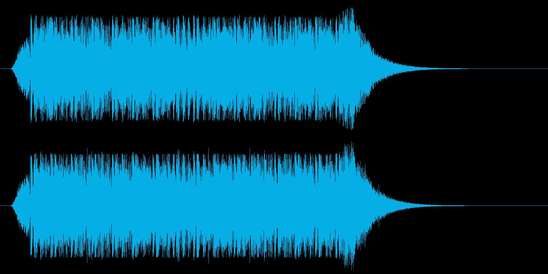 サイバー風ミステリアスジングル(ロング)の再生済みの波形
