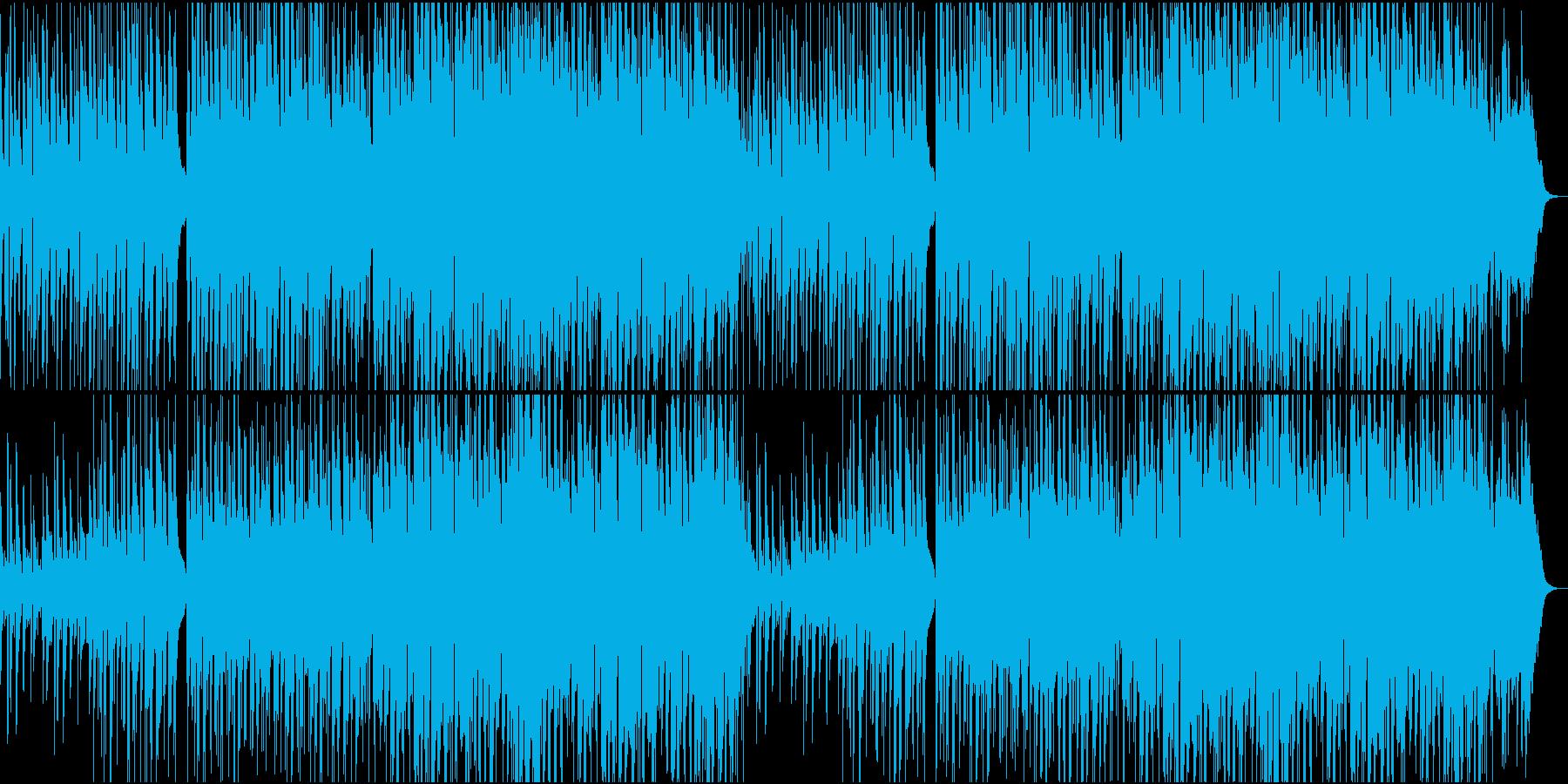 ゆったりとしたボサノバ02の再生済みの波形