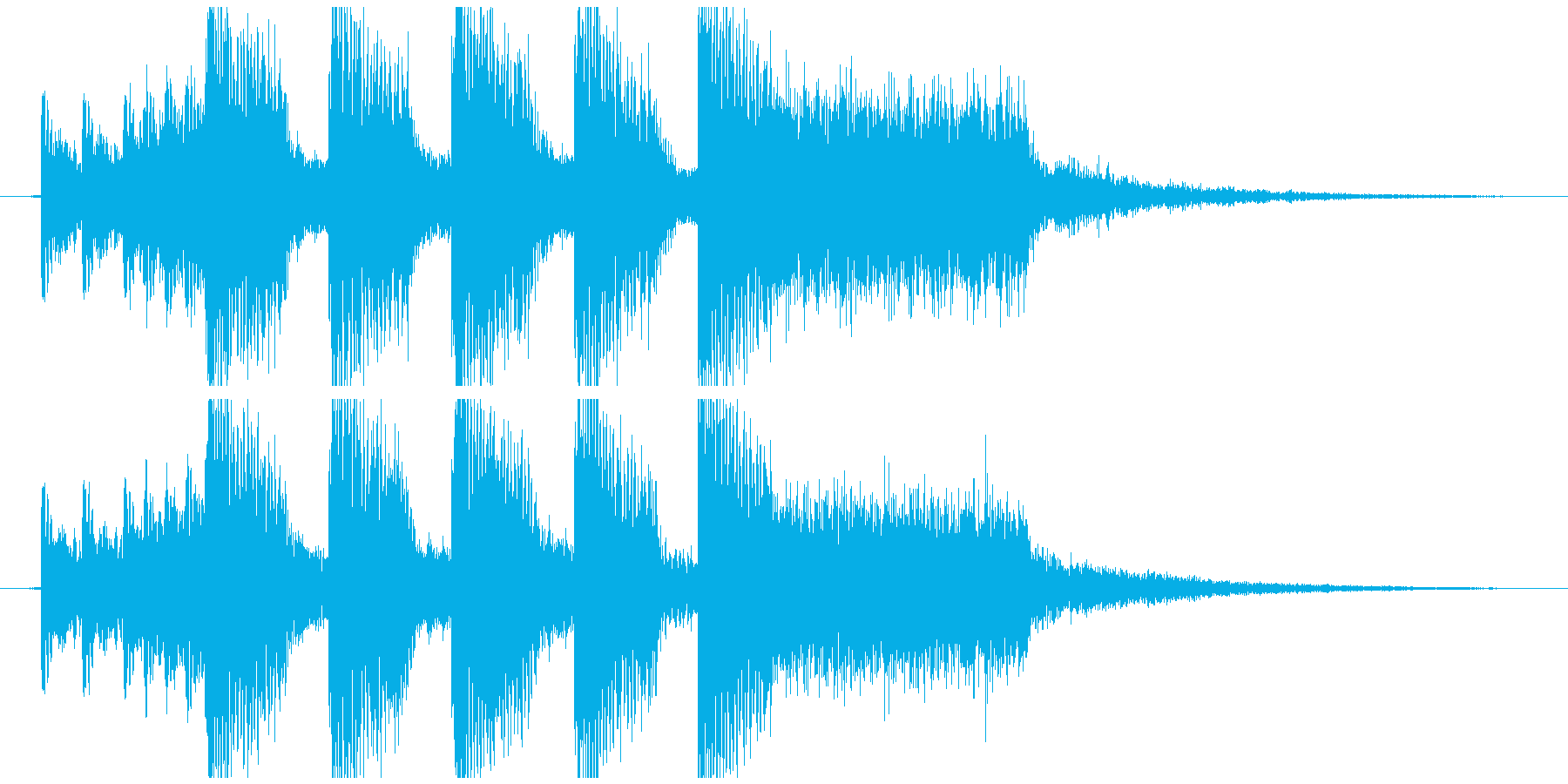 派手なEDM風のジングルの再生済みの波形