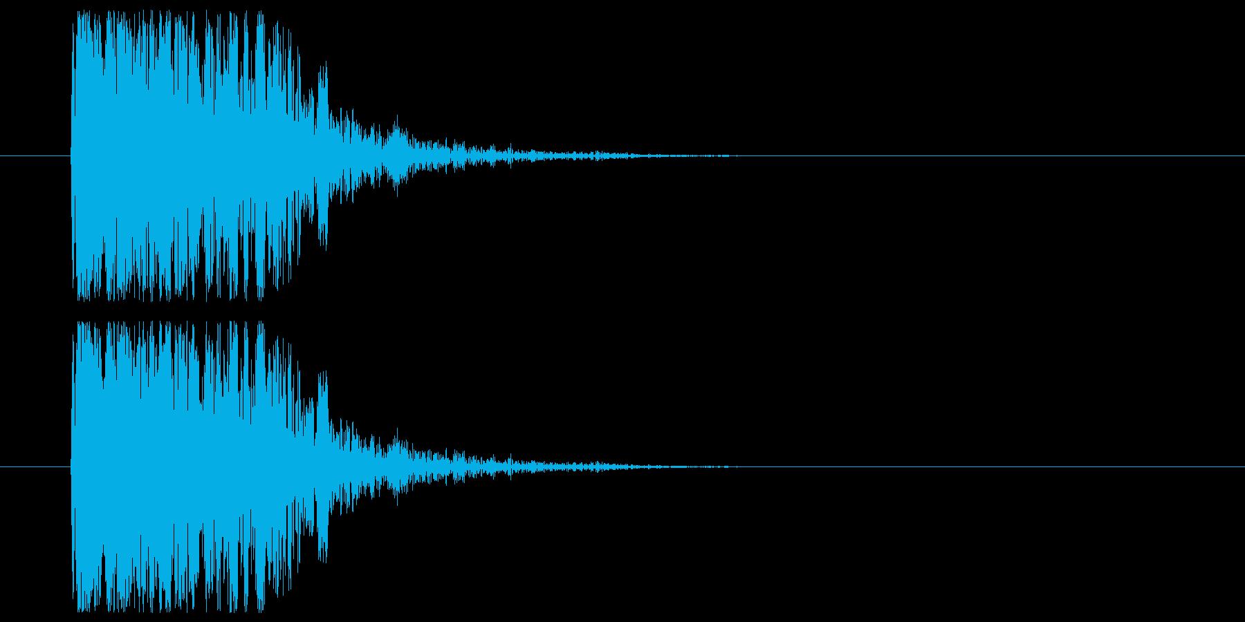 コミカル_ぶつかりの再生済みの波形