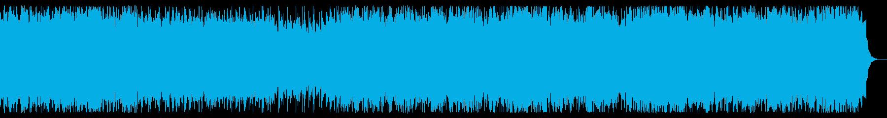 ポップに爽快 シンセサイザーBGMの再生済みの波形