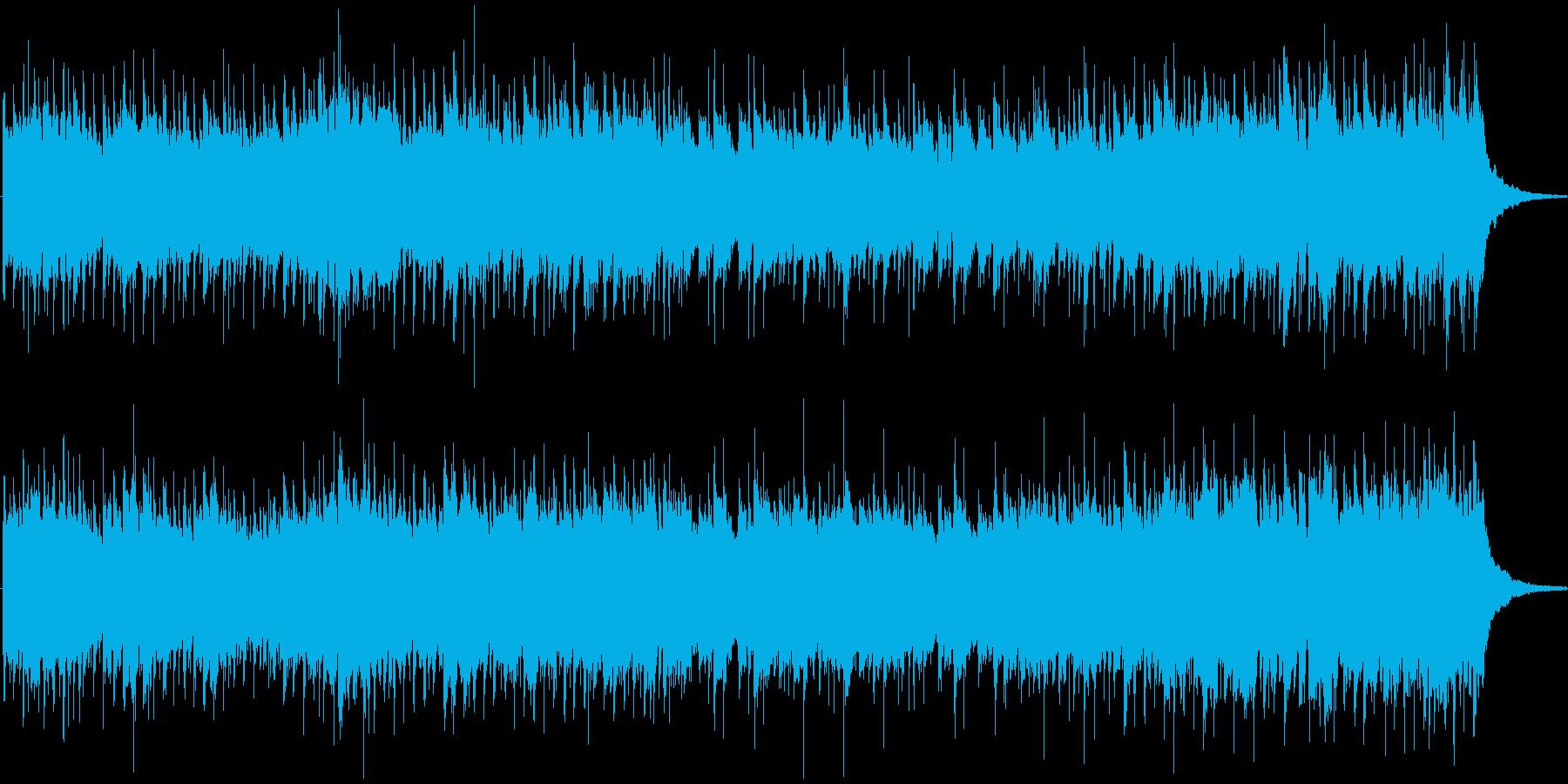 シンセとエレキギターのロックの再生済みの波形