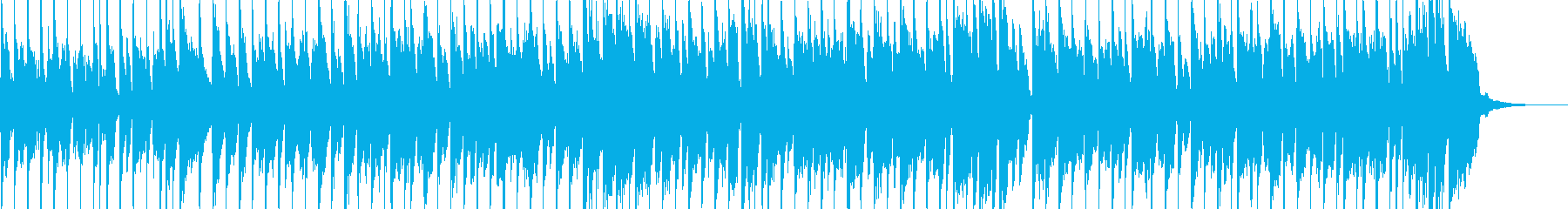 子供用のわんぱくな雰囲気のBGMの再生済みの波形