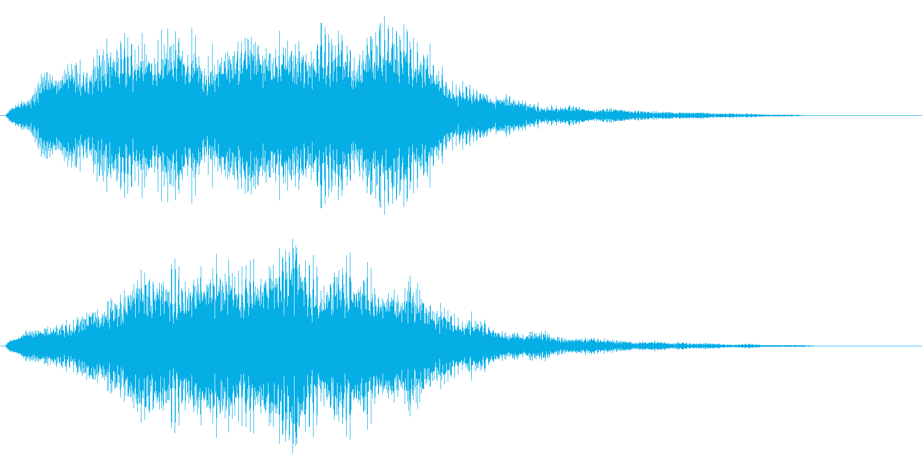ストリングスの不協和音 ホラー 恐怖演出の再生済みの波形