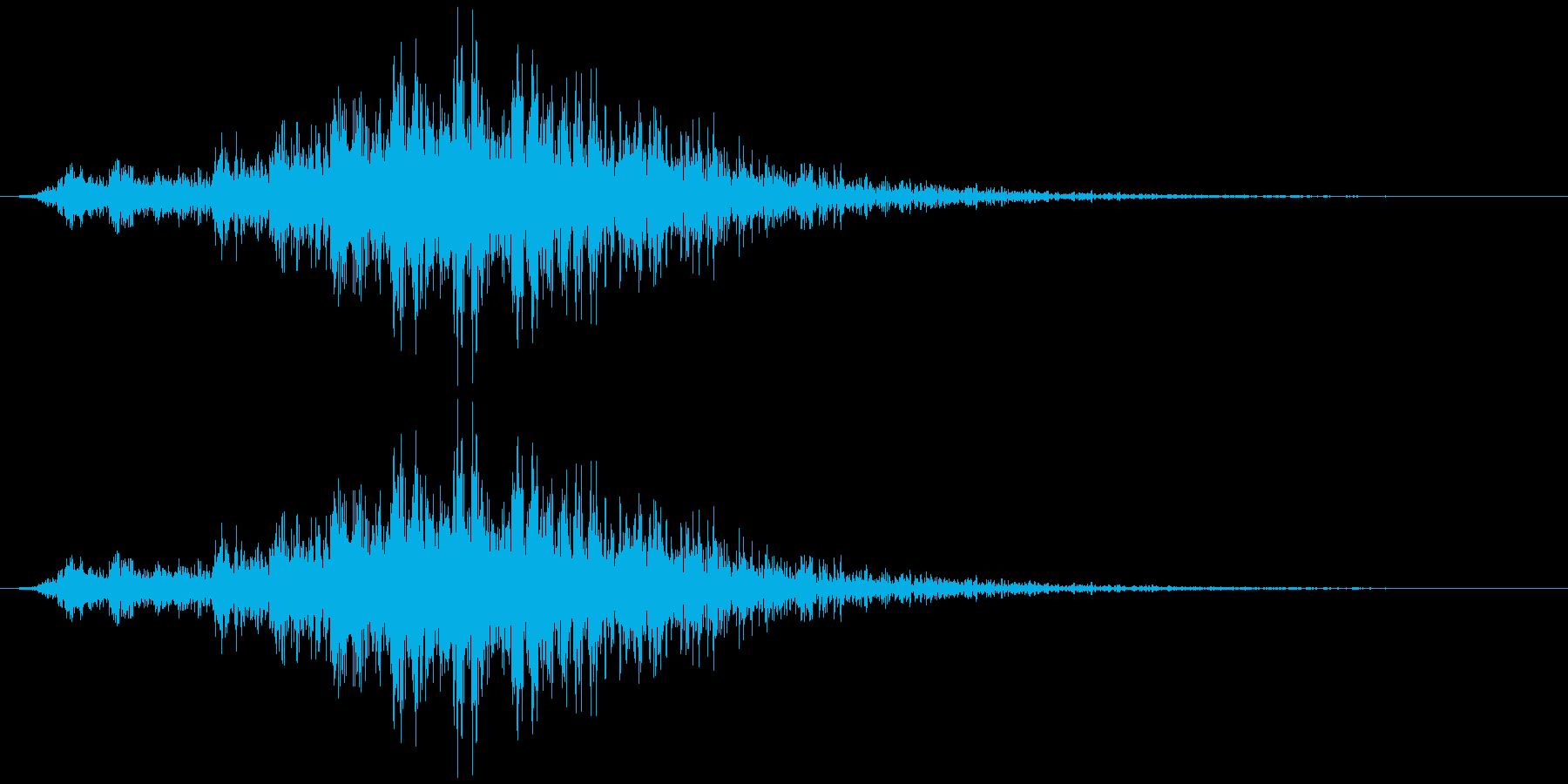 飛んでいく、横切る音4の再生済みの波形