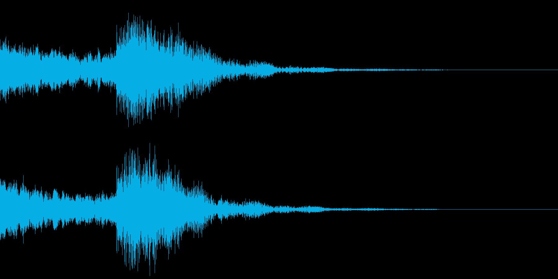 太鼓と尺八の和風インパクトジングル!13の再生済みの波形