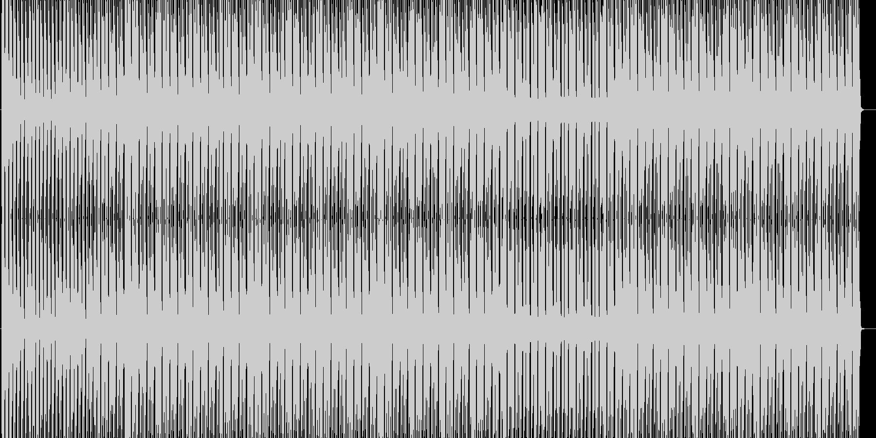 軽快なリズムのハウスの未再生の波形