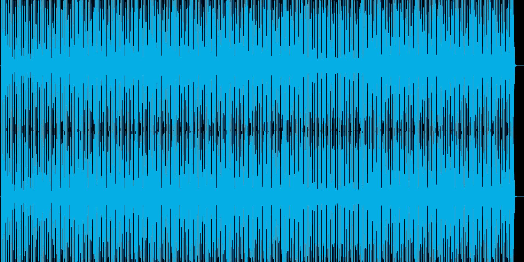 軽快なリズムのハウスの再生済みの波形