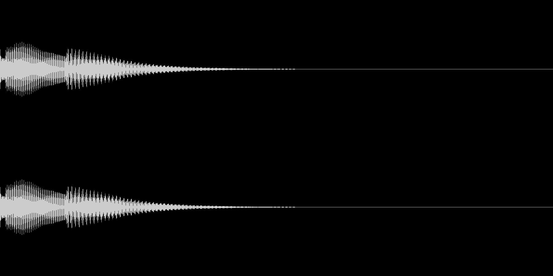 メッセージを受け取った短い着信音(木琴)の未再生の波形