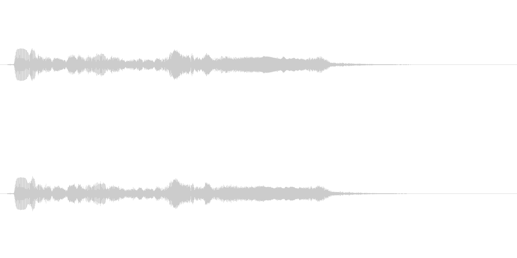 サックスで奏でるサウンドロゴの未再生の波形