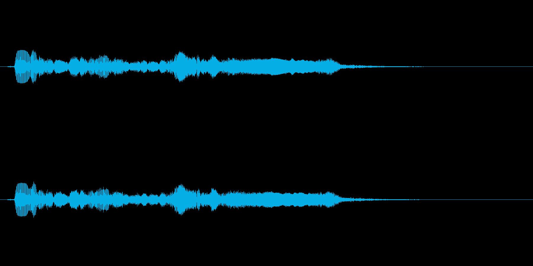 サックスで奏でるサウンドロゴの再生済みの波形