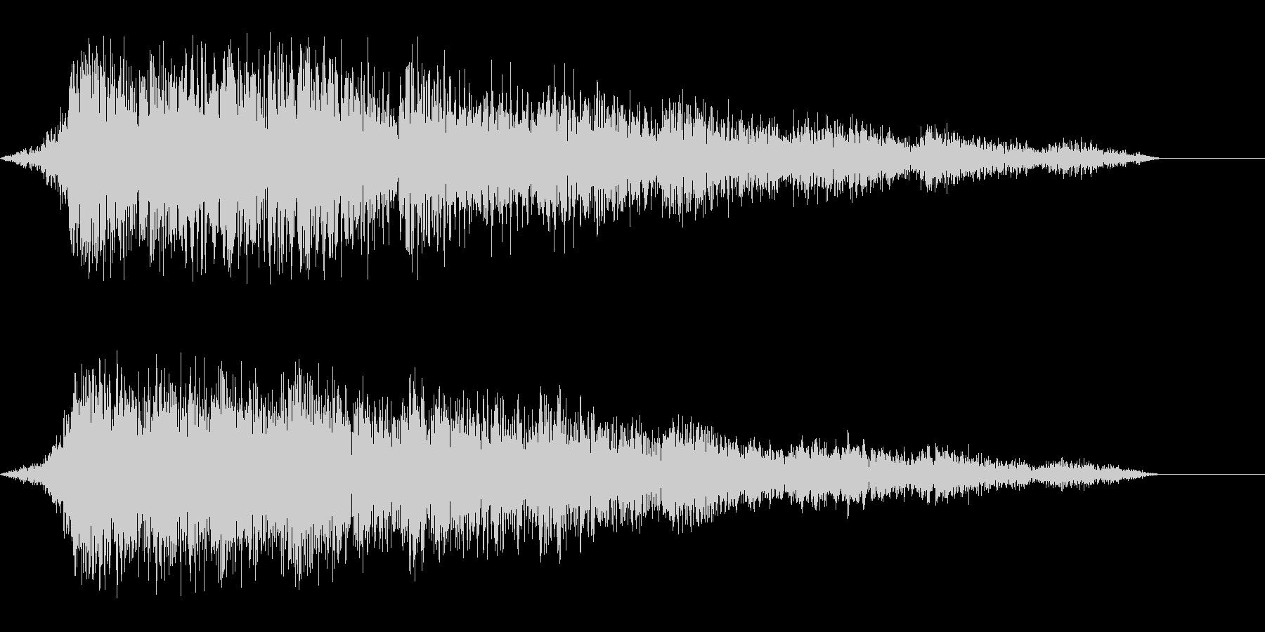 ゲーム用:フリック音「シュイン」の未再生の波形