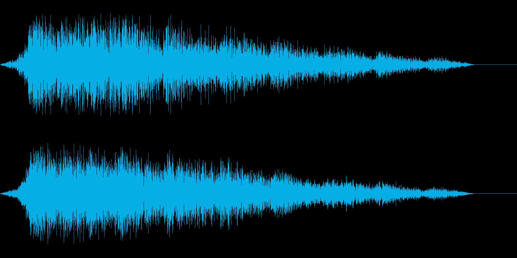 ゲーム用:フリック音「シュイン」の再生済みの波形