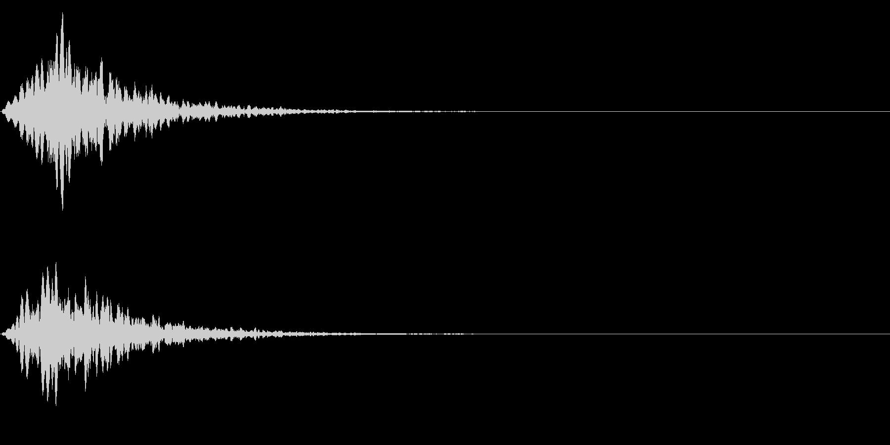 ゲームスタート、決定、ボタン音-076の未再生の波形