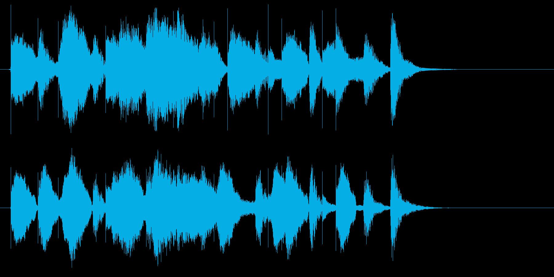 猫達が歌う「もろびとこぞりて」ロゴ♪の再生済みの波形