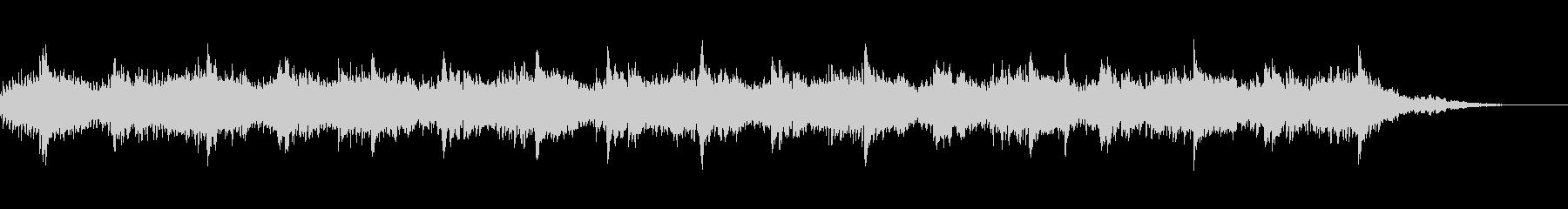 シンプルなピアノのフレーズの繰り返しですの未再生の波形